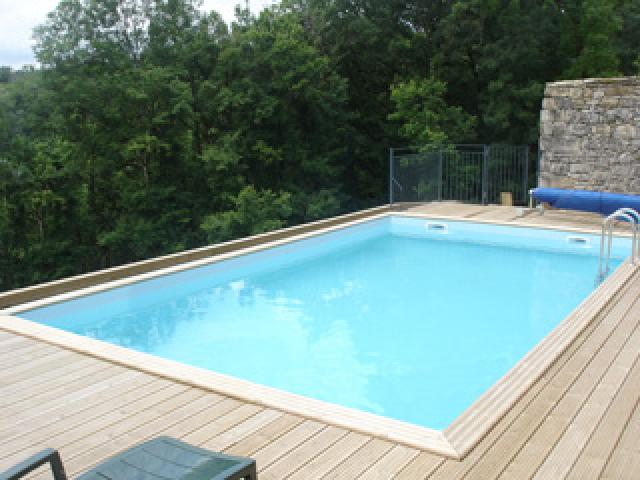 Gardipool quartoo 3 50 x 3 50 x 1 33 margelle pin for Liner piscine diametre 3 50