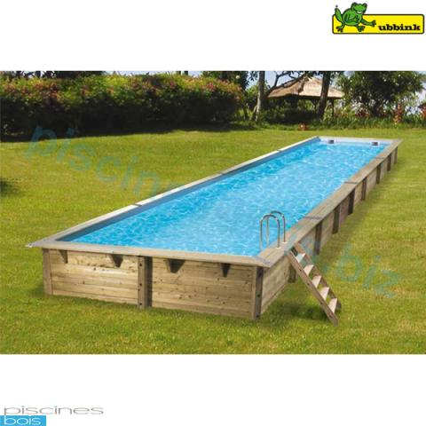 Piscine bois rectangulaire lin a 350 x 1550 cm for Piscine ubbink