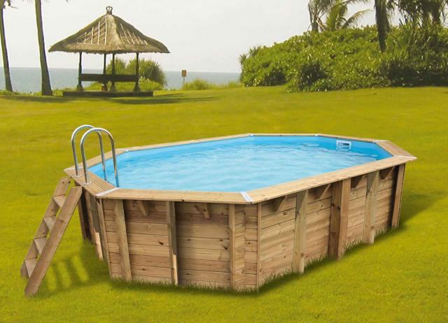 piscine bois azura 355 x 550 cm cm ubbink piscines bois. Black Bedroom Furniture Sets. Home Design Ideas