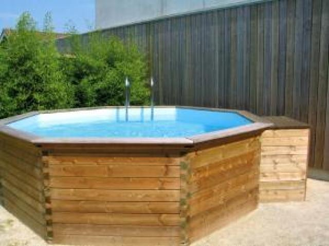Piscine bois 4m for Specialiste piscine bois