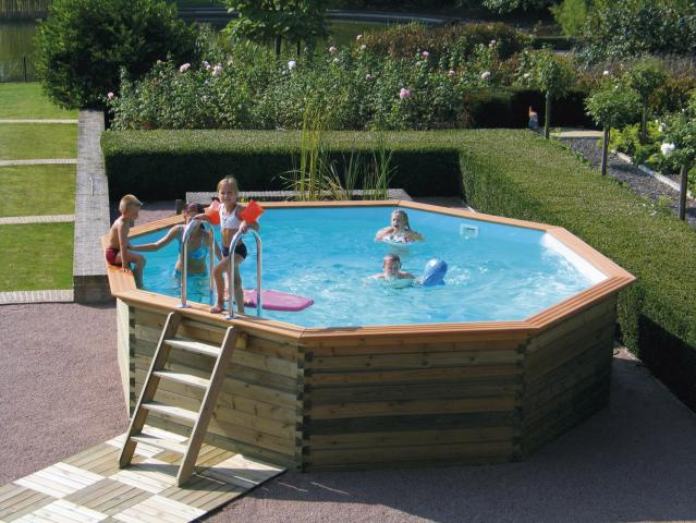 Piscine bois gardipool octoo 6 25 x 1 33 m avec margelles for Piscine 33