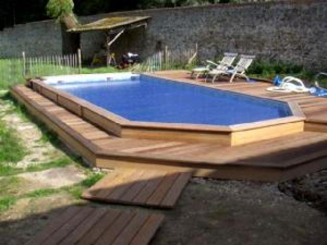 Piscine bois gardipool for Piscine en bois a enterrer