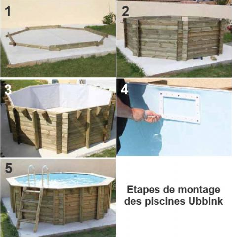Piscine bois octogonale oc a 430 cm cm ubbink Accessoire piscine bois
