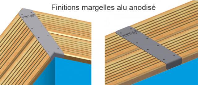 Piscine bois rectangulaire Linéa 350 x 1550 H155 cm  ~ Margelles Piscine Bois