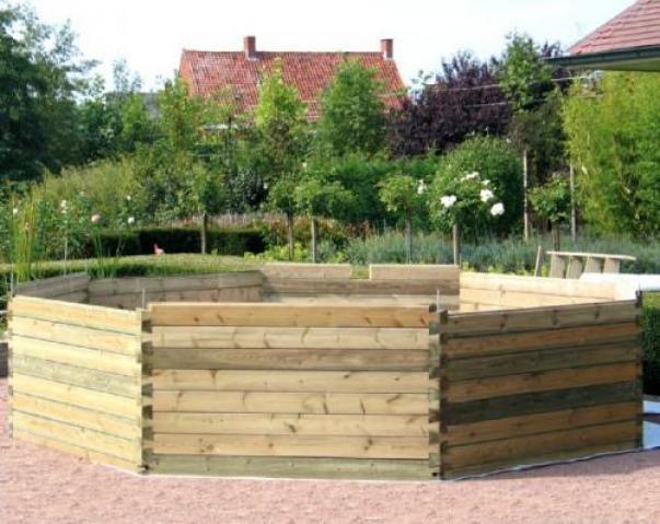 Piscine gardipool octoo 4 20 x 1 33m margelles en pin for Piscine bois gardipool